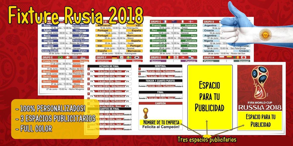 Fixture Rusia 2018